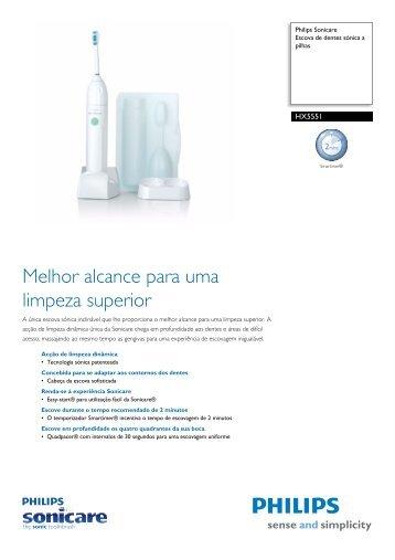 HX5551/02 Philips Escova de dentes sónica a pilhas