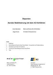 Deponien - Aerobe Stabilisierung mit dem A3-Verfahren