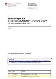 Erläuterungen zur GGBV - Gefag Gefahrgutausbildung und