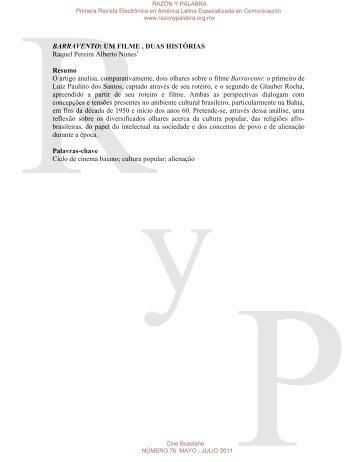 BARRAVENTO: UM FILME , DUAS HISTÓRIAS ... - Razón y Palabra