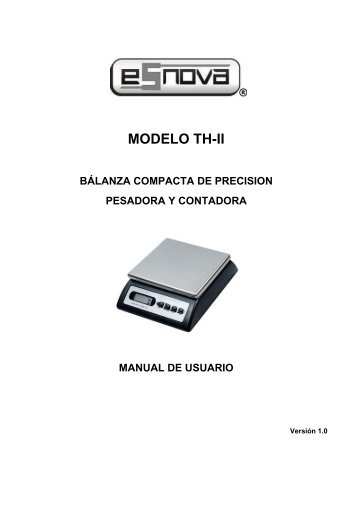 Manual Operativo TH-II - Esnova