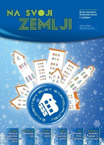 Na svoji zemlji, februar 2012 - Študentski svet stanovalcev