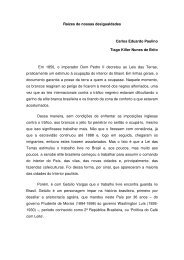 Raízes de nossas desigualdades Carlos Eduardo Paulino ... - Uniesp