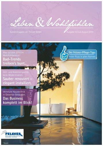 Bad-Trends treiben's bunt. Sauber renoviert – elegant ... - Der Felsner