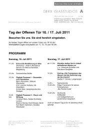 Tag der Offenen Tür 16. / 17. Juli 2011 - Derix Glasstudios