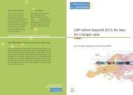 CAP reform beyond 2013: An idea for a longer view - Notre Europe