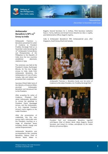 Newsletter - Embassy of the Philippines, New Delhi, India