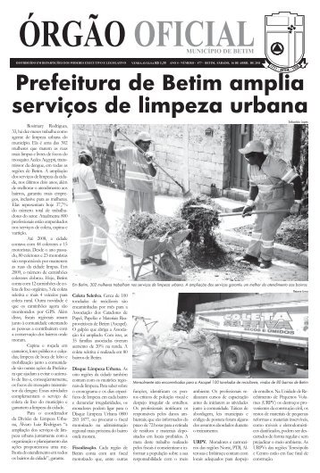 16 de abril - nº 477 - Prefeitura Municipal de Betim