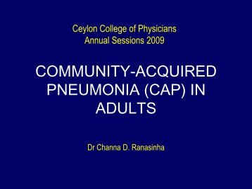 community-acquired pneumonia (cap) in adults - Ceylon College of ...
