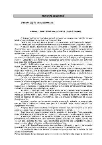 LIXO edital ultimo CAPINA E LIMPEZA - São Sepé