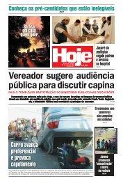 Vereador sugere audiência pública para discutir capina - Jornal Hoje