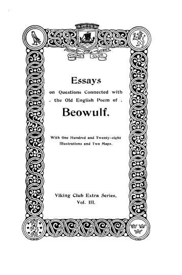 Writing A Cause And Effect Essay Essays On Questions Connected With The Old English Poem Of Beowulf Professional Essay Writing Help also Footnotes In Essay Beowulf Essay Characteristics Of Archetypal Epic Hero I Need An Essay Written