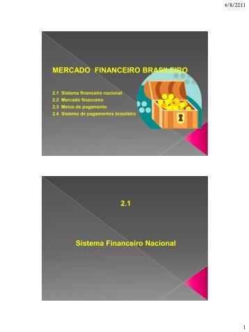 MERCADO FINANCEIRO BRASILEIRO 2.1 Sistema ... - FASUL
