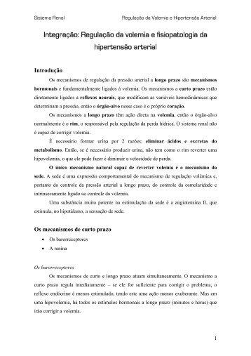 Regulação da volemia e fisiopatologia - UFF