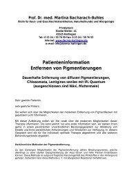 Patienteninformation, Kostenvoranschlag und ... - Derma-Hattingen