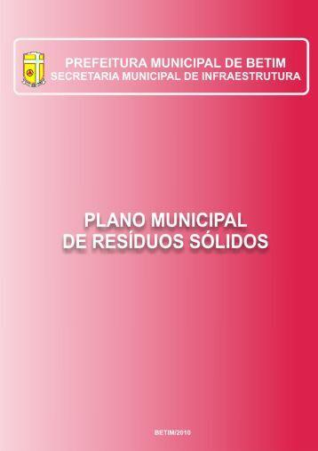 Plano Municipal de Resíduos Sólidos - Prefeitura Municipal de Betim