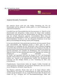 Atopische Dermatitis, Neurodermitis Das ... - Derma-Hattingen