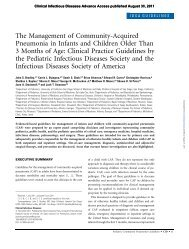 The Management of Community-Acquired Pneumonia in Infants and ...