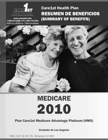 261970 CareCA SpnPlat_SOB.indd - Care1st Health Plan