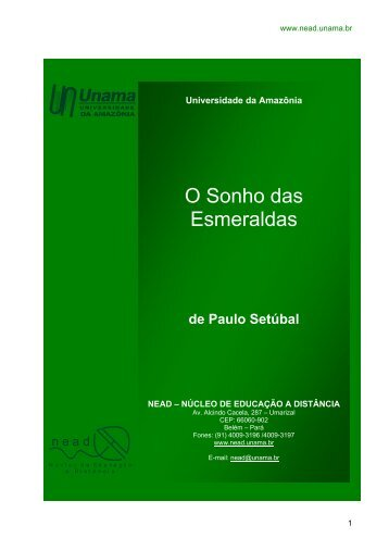 O Sonho das Esmeraldas - Unama