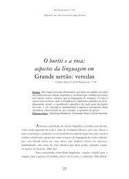 aspectos da linguagem em Grande sertão - FALE - UFMG