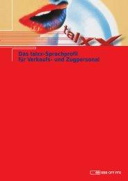 Das talxx-Sprachprofil für Verkaufs- und Zugpersonal
