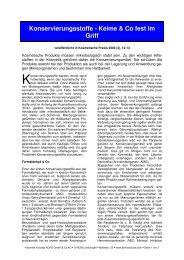 Konservierungsstoffe - Keime & Co fest im Griff - Dermaviduals