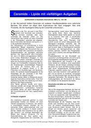 Ceramide – Lipide mit vielfältigen Aufgaben - Dermaviduals