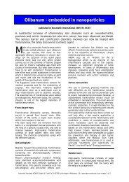 Olibanum - embedded in nanoparticles - Dermaviduals