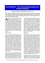 the corneobiology-based anti- wrinkle treatment - Derma-Art