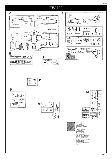 MISTEL V Ta154 & Fw190 - Hobbico