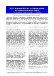 Schumann oscillations, radio waves and ultrasound ... - Dermaviduals