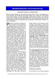 Mindesthaltbarkeit und Konservierung - Dermaviduals