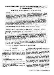 viabilidade e germinação do pólen de linhagens parentais - Embrapa