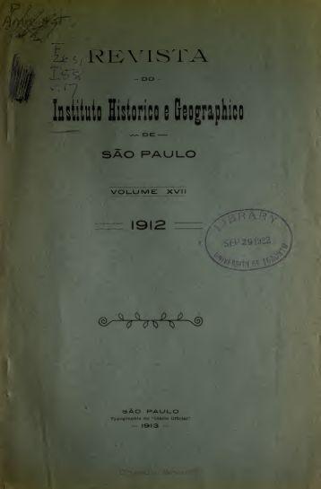 Revista do Instituto histórico e geográfico de São Paulo