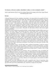 Ser docente, ser discente - EGAL 2009 - Programa on-line
