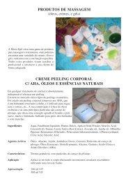 PRODUTOS DE MASSAGEM CREME PEELING CORPORAL C ...