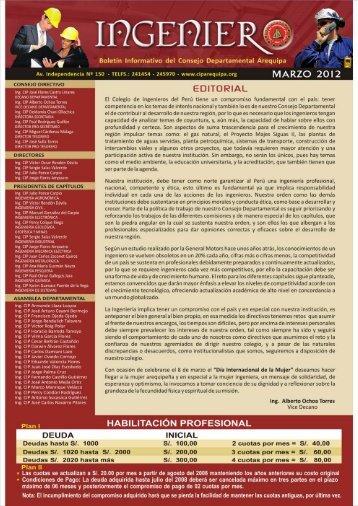 MARZO 2012 seguridad.cdr - Colegio de Ingenieros del Perú CD ...