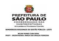 Wilma Nunes Cuba Bora - Prefeitura de São Paulo