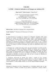 Cálculo de Indicadores de Paisagem em Ambiente SIG