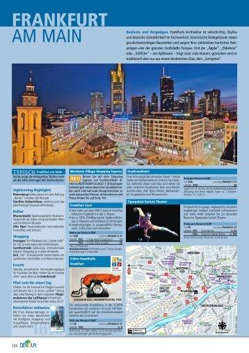 DERTOUR - Hotel Frankfurt - Städtereisen - Sommer 2011