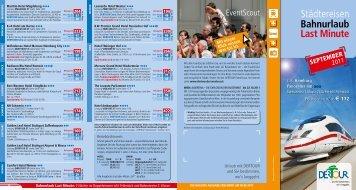 Bahnurlaub Last Minute - September 2011 - Dertour