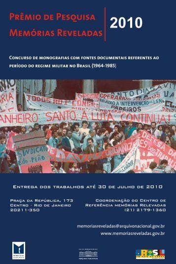 cartaz memorias - Memórias Reveladas - Arquivo Nacional