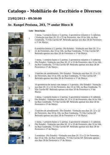 Catalogo - Mobiliário de Escritório e Diversos