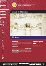 CARTAZ bioetica - Faculdade de Medicina da Universidade de Lisboa