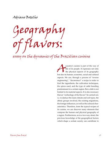 Geography of flavors: