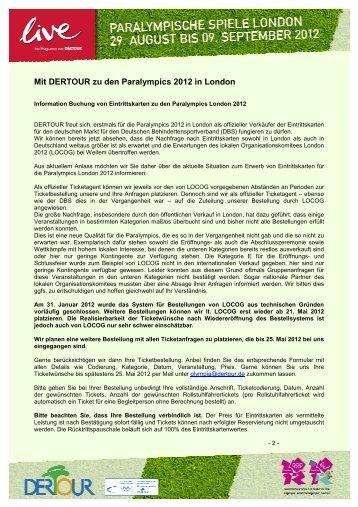 Mit DERTOUR zu den Paralympics 2012 in London