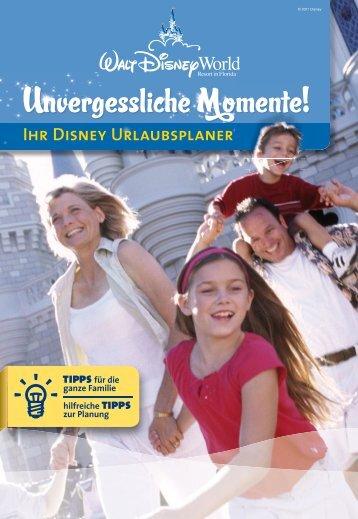Infos im Disney Urlaubsplaner (PDF) - Dertour