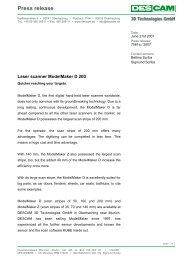 Download press release 7061e - Descam 3D Technologies GmbH