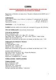 Cobra - Secretaria da Agricultura e Abastecimento - Estado do Paraná